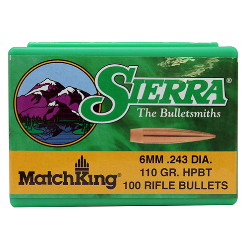 Sierra 1575 MatchKing 6mm .243 110 GR Matchking 100 Box