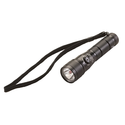 Streamlight 51056 Night Com LED Flashlight 105 Lumens CR123A (2) Aluminum Black