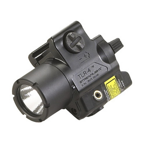Streamlight 69241 TLR-4 Tactical Light Red Laser 125 Lumens CR2 Lithium (1) Black for HK USP Compact