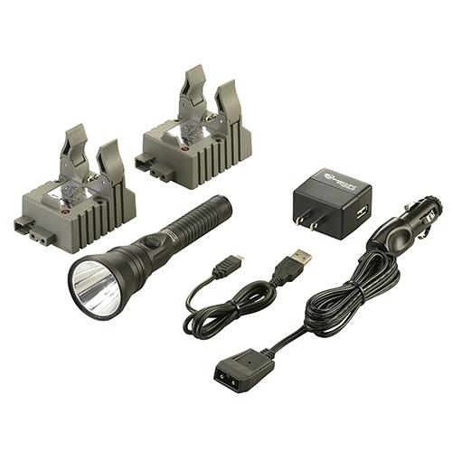 Streamlight Strion DS HPL Flashlight White LED 700 Lumens Double Holder Charger Aluminum Black