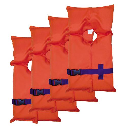 Stearns Adult Type II PFD Orange, Carry Bag, Per 4