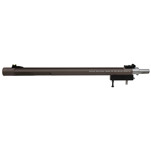 Tactical Solutions 1022TDQS X-Ring Takedown 22 Long Rifle (LR) 16.5 Fluted Bull Quick Sand with Sights in.