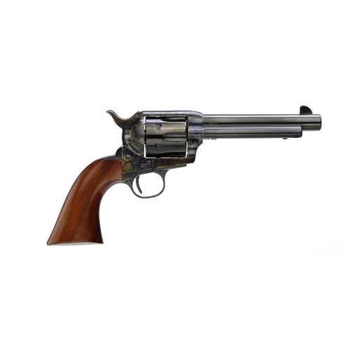 Taylors and Company 555139 1873 Cattleman Gunfighter Single 45 Colt (LC) 5.5 6 rd Walnut Checkered Army Sized Grip CCH Frame Blued in.