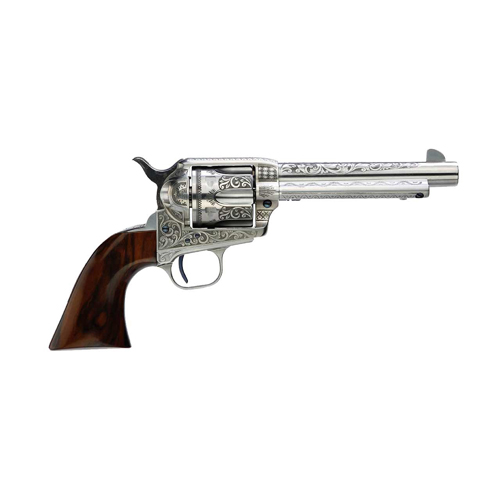Taylor's & Co. Uberti 1873 Cattleman Photo Engraved Revolver .357 Magnum 5.5 inch Barrel 6 Rounds