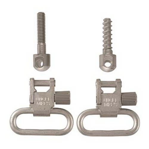 Uncle Mikes 10022 Quick Detach Sling Swivels 1 Nickel Nickel-Plated in.