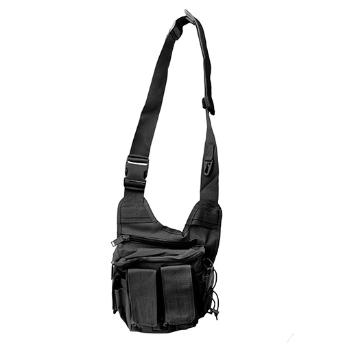 US PeaceKeeper P20307 Rapid Deployment Pack Range Bag Tactical 600D Polyester 12 x 10 in.  x 3 in.  Black in.