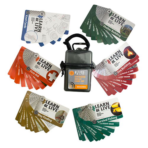 Ultimate Survival Technologies Learn & Live Outdoor Skills Card Set