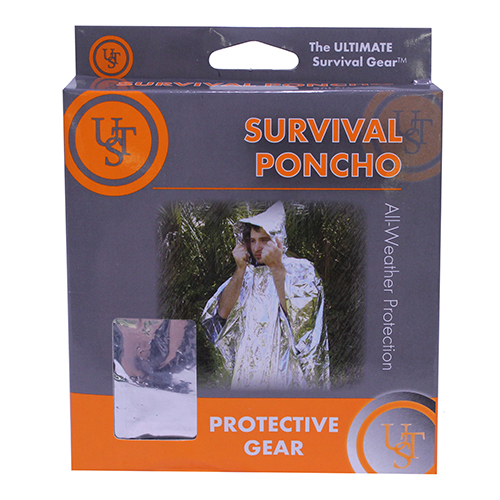 Ultimate Survival Technologies Reflect Poncho, Silver
