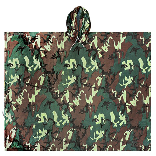 Ultimate Survival Technologies All-Weather Poncho Adult, Camo