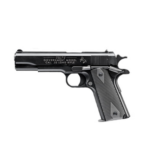 Walther Arms 517030410 1911 Colt Government A1 22 Long Rifle (LR) Single 5 10+1 Black Polymer Grip Black Tenifer Slide in.