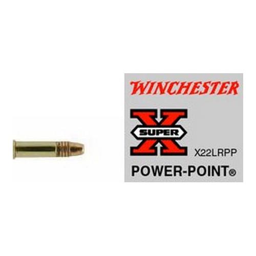 Winchester Ammo X22LRPP Super-X 22 Long Rifle (LR) 40 GR Power-Point 50 Bx| 100 Cs