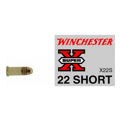 Winchester Ammo X22S Super-X 22 Short 29 GR Lead Round Nose 50 Bx| 100 Cs