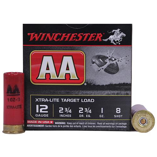 Winchester Ammo AAL128 AA Target Loads 12 Gauge 2.75 1 oz 8 Shot 25 Bx| 10 Cs in.