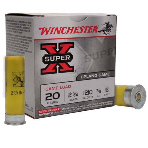 Winchester Ammo XU208 Super-X Game & Field 20 Gauge 2.75 7|8 oz 8 Shot 25 Bx|10 Cs in.