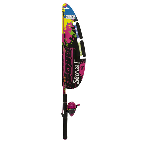 Zebco | Quantum YSPLSCJPK,06,FB6 Splash Junior 402 Spincast Combo Girls, Pink