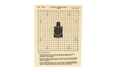 ACTION TARGET INC ALT C(2)-100 M-16 Hanging Tagboard 8.75in. x 11.5in. Center Mass Black/White 100