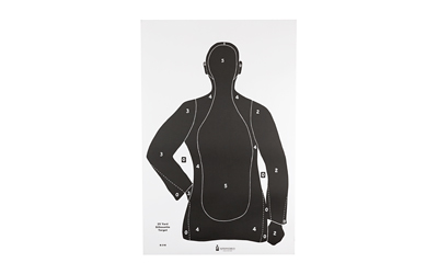 ACTION TARGET INC B21EBLACK100 B-21E Qualification Target Paper 23in. x 35in. Silhouette Black 100