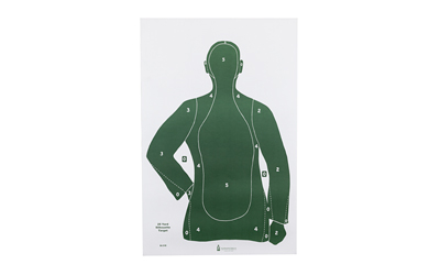 ACTION TARGET INC B21EGREEN100 B-21E Qualification Target Paper 23in. x 35in. Silhouette Green 100