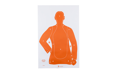 ACTION TARGET INC B21EORANGE100 B-21E Qualification Target Paper 23in. x 35in. Silhouette Orange/White 100