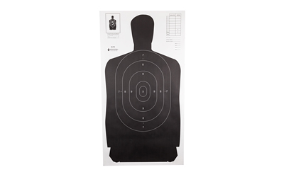 ACTION TARGET INC B27SBLACK100 Military Qualification Target Hanging Paper 24in. x 45in. Silhouette Black 100 Per Box
