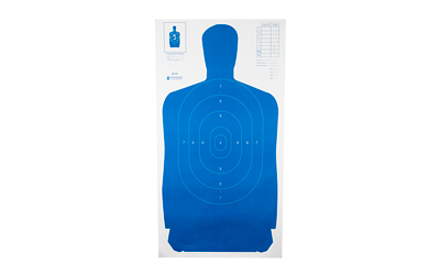 ACTION TARGET INC B-27S BLUE-100 B-27S Qualification Target Hanging Paper 24in. x 45in. Silhouette Blue 100 Per Box
