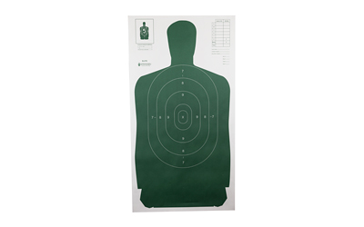 ACTION TARGET INC B-27S GREEN-100 B-27S Qualification Target Hanging Paper 24in. x 45in. Silhouette Green 100 Per Box