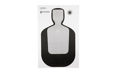 ACTION TARGET INC FTQ19ANTAV2100 TQ-19 Qualification Target Hanging Paper 23in. x 35in. Silhouette/Vitals Black/Gray 100
