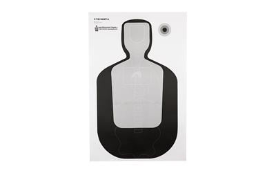 ACTION TARGET INC FTQ19ANTAV2100 TQ-19 Qualification Target Hanging Paper 23in. x 35in. Silhouette/Vitals Black/Gray 100