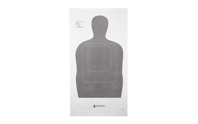 ACTION TARGET INC TQ15GRAY100 TQ-15 Training Target Hanging Paper 24in. x 45in. Silhouette Gray 100 Per Box