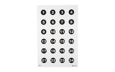 ACTION VB24100 24 3in. NUMBERED CIRCLES (100 BOX)