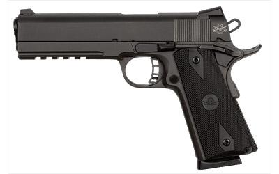 Rock Island 51484 Tac Standard FS 45 ACP Single 5in. 8+1 Black Rubber Grip Black Parkerized Slide