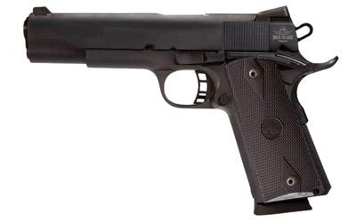 Rock Island 51632 Rock Standard FS Single 9mm Luger 5in. 10+1 Black G10 Grip Black Parkerized