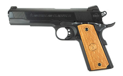 American Classic AC9G2 1911 Classic II Single 9mm Luger 5 9+1 Hardwood Grip Blued in.