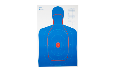 Action Target RC-B27E-Q, B-27E And FBI Q Combination Target, Blue/Red, 23
