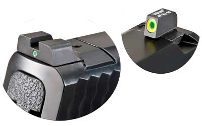 AmeriGlo SW301 i-Dot Night Sight S&W M&P Tritium Green w|Lime Outline Steel Green w|White Outline Black