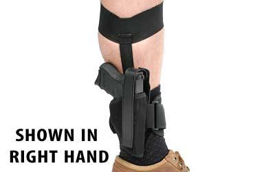 Blackhawk 40AH12BKL Ankle Holster LH Sz 12 Glock 26|27|33 & Other Subcompact 9mm|40 Cal 1000 Denier Cordura Nylon Black