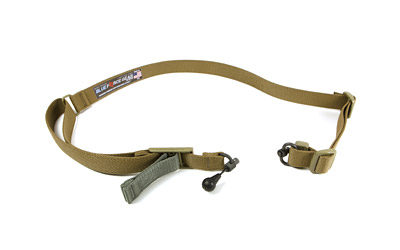 Blue Force Gear VCAS2TO1RED Vickers Adjustable x 1.25 Included RED Swivel Cordura Coyote Tan in.