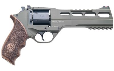 Chiappa Firearms 340282 Rhino 60DS 357 Mag 6in. 6 Round OD Green Walnut Grip