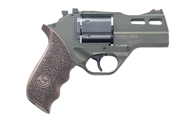 Chiappa Firearms 340285 Rhino 30DS 357 Mag 6 Round 3in. OD Green Walnut Grip