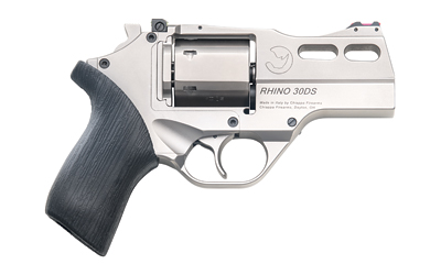 Chiappa Firearms 340290 Rhino 30DS 357 Mag 3in. 6 Round Black Rubber Grip Nickel