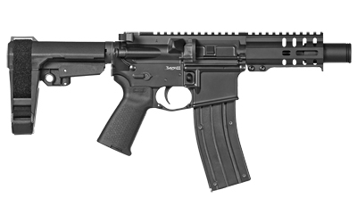 CMMG 22A5B62GB Banshee 300 MK4 22 LR 4.50in. 25+1 Black Cerakote Black Magpul MOE CMMG 6 Position RipBrace