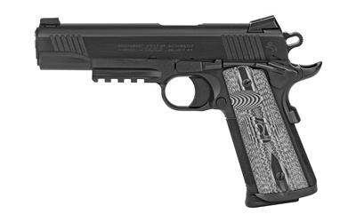 "Colt Mfg O1080RGCCU Government Combat Unit w/Rail 45 ACP 5"" 8+1 Black PVD Black PVD Stainless Steel Black G10 Checkered w/Scallop Grip"