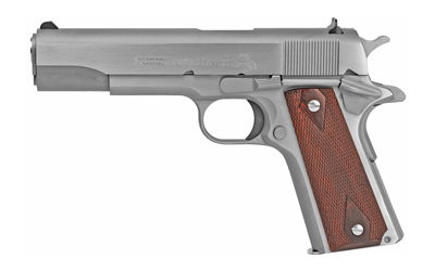 Colt Mfg O1911CSS 1911 Government 45 ACP 5in. 7+1 Stainless Steel Rosewood Grip