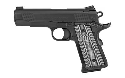 "Colt Mfg O9840CCU Commander Combat Unit 45 ACP Single 4.25"" 7+1 Gray G10 Checkered w/Scallop Grip Black PVD Stainless Steel Slide"