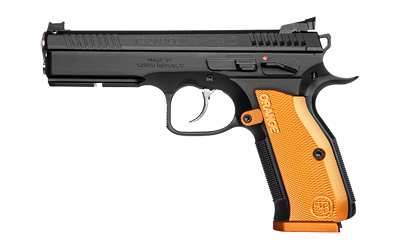 CZ 91249 Shadow 2 9mm Luger Single/Double 4.89in. 17+1 Orange Aluminum Grip Black Steel Slide