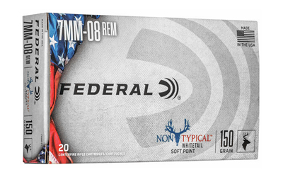 Federal 708DT1 Non-Typical 7mm-08 Rem 150 gr Non-Typical Soft Point (SP) 20 Bx/ 10 Cs