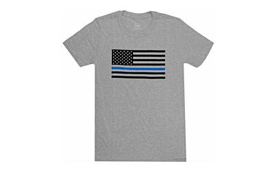 Glock AP95656 Discipline & Valor Large Short Sleeve T-Shirt Gray Cotton/Polyester