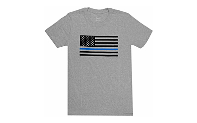 Glock AP95659 Discipline & Valor XXX-Large Short Sleeve T-Shirt Gray Cotton/Polyester