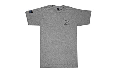Glock AP95681 We've Got Your Six Medium Short Sleeve T-Shirt Gray Cotton/Polyester