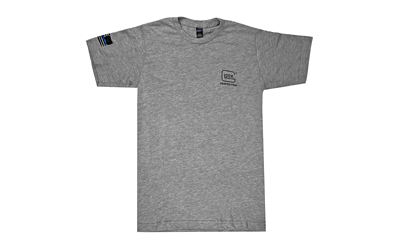 Glock AP95683 We've Got Your Six Extra Large Short Sleeve T-Shirt Gray Cotton/Polyester